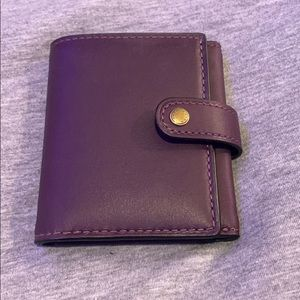 Coach dark purple Leather wallet